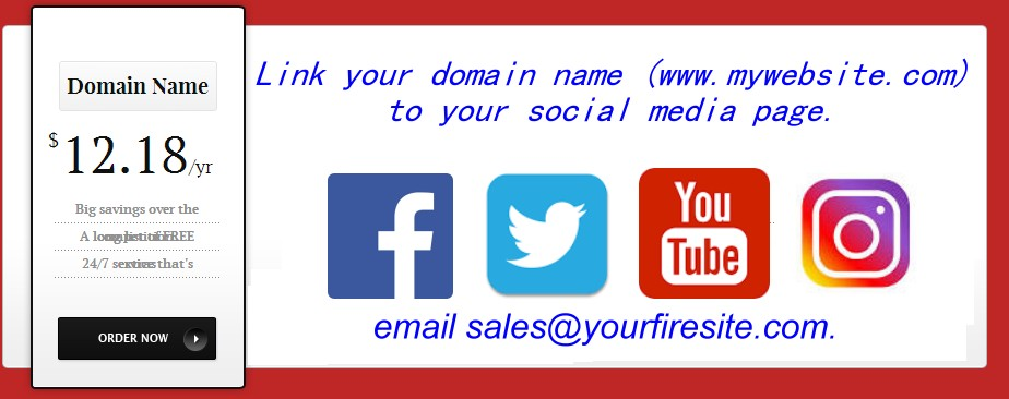your domain points to your social media account